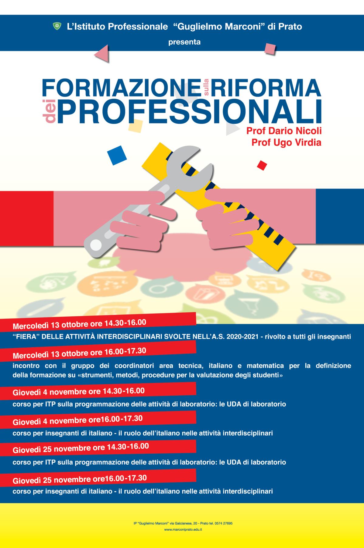 Manifesto riforma dei professionali